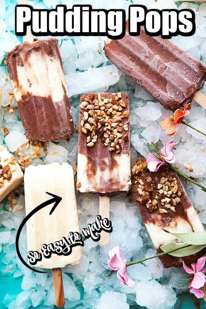 These easy to make Pudding Pops will be a family favorite to enjoy all summer long!! #puddingpops #fudgesicles