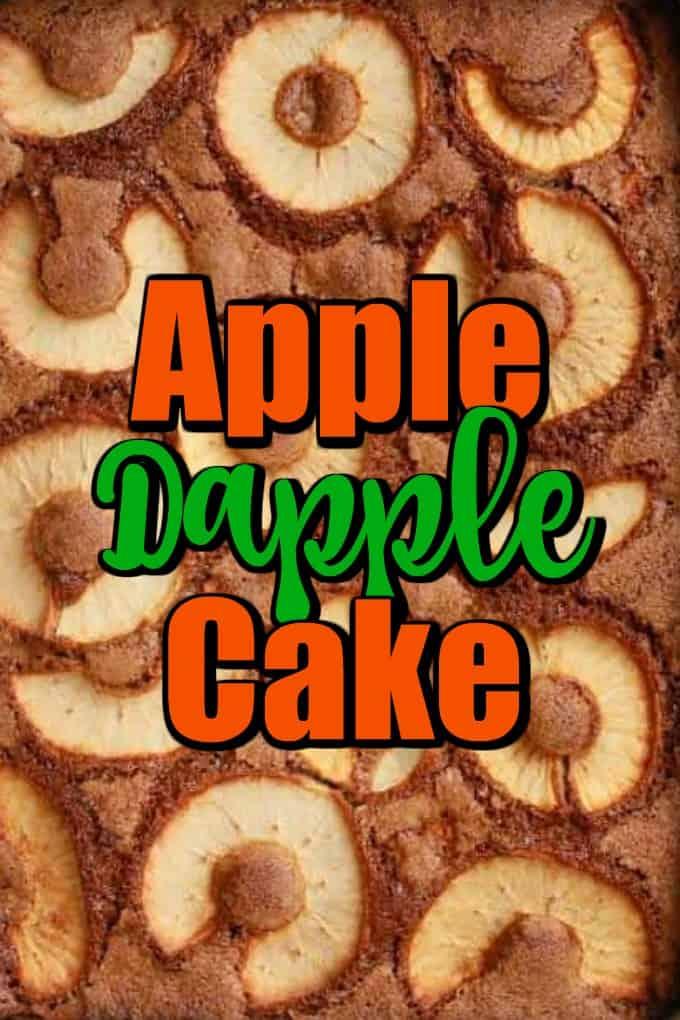 Apple Dapple Cake - Great Fall Vintage Cake Pin
