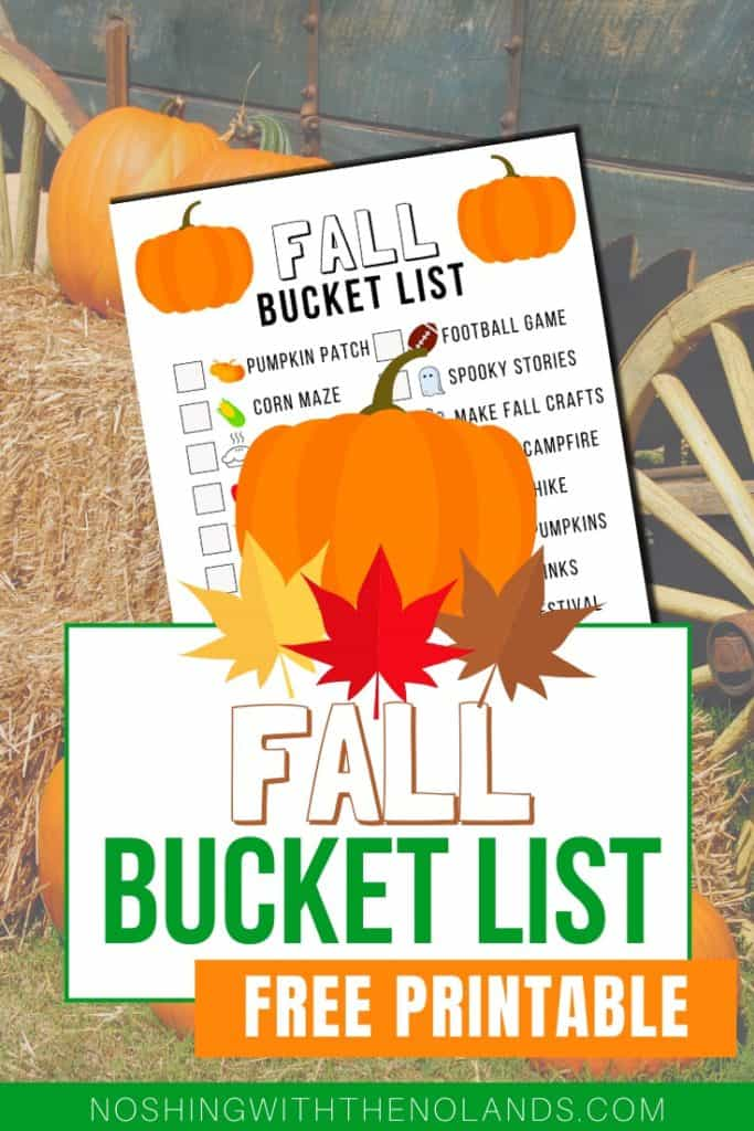 Fall Bucket List Pin