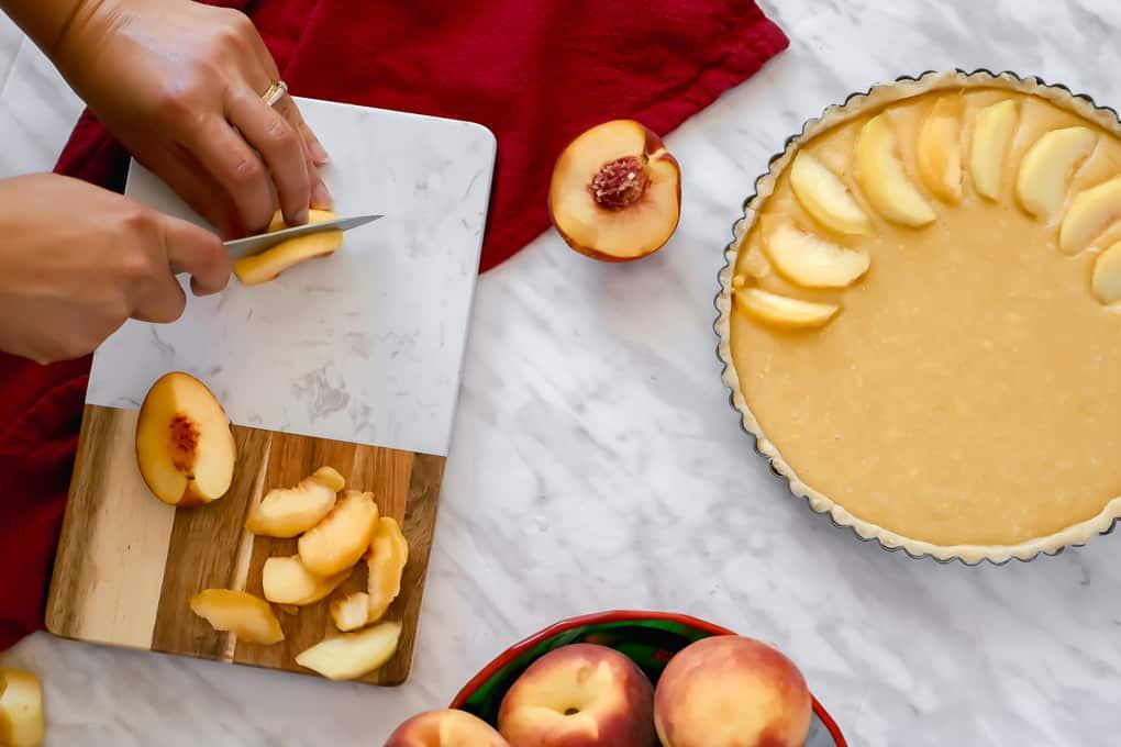 Making peach pie