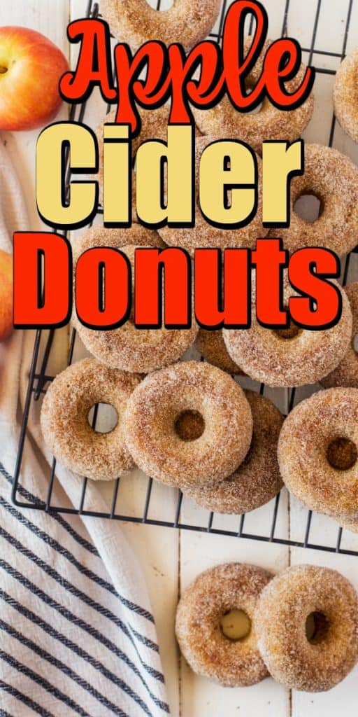 Baked Apple Cider Donuts Recipe pin