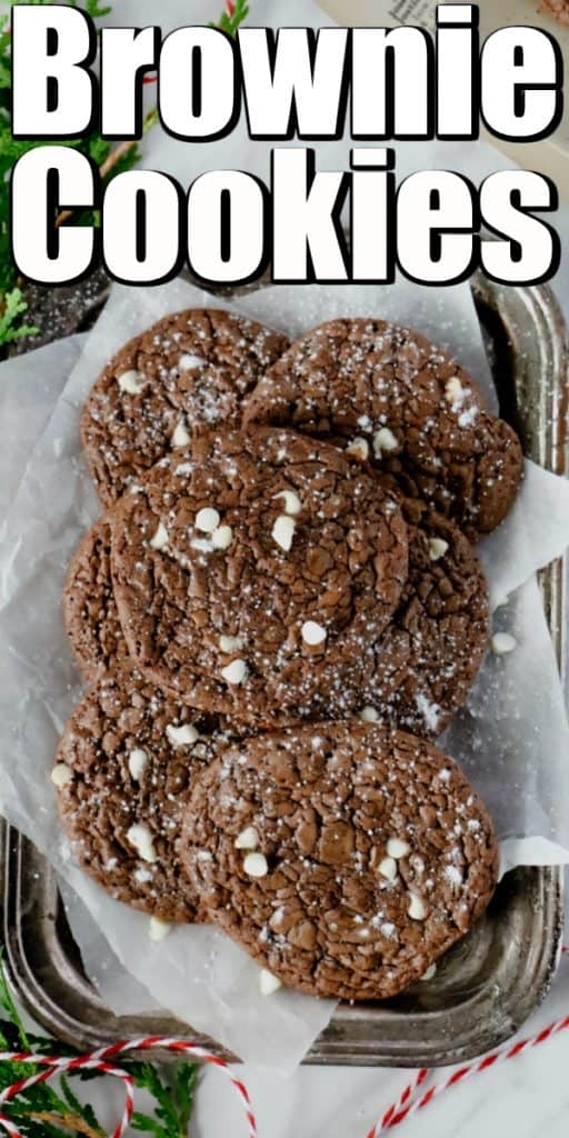 Fudgy Chocolate Brownie Cookies Pin