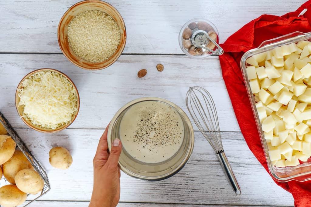 Ingredients for Delmonico potatoes