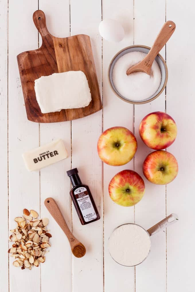 Ingredients for Lisa's Apple Torte