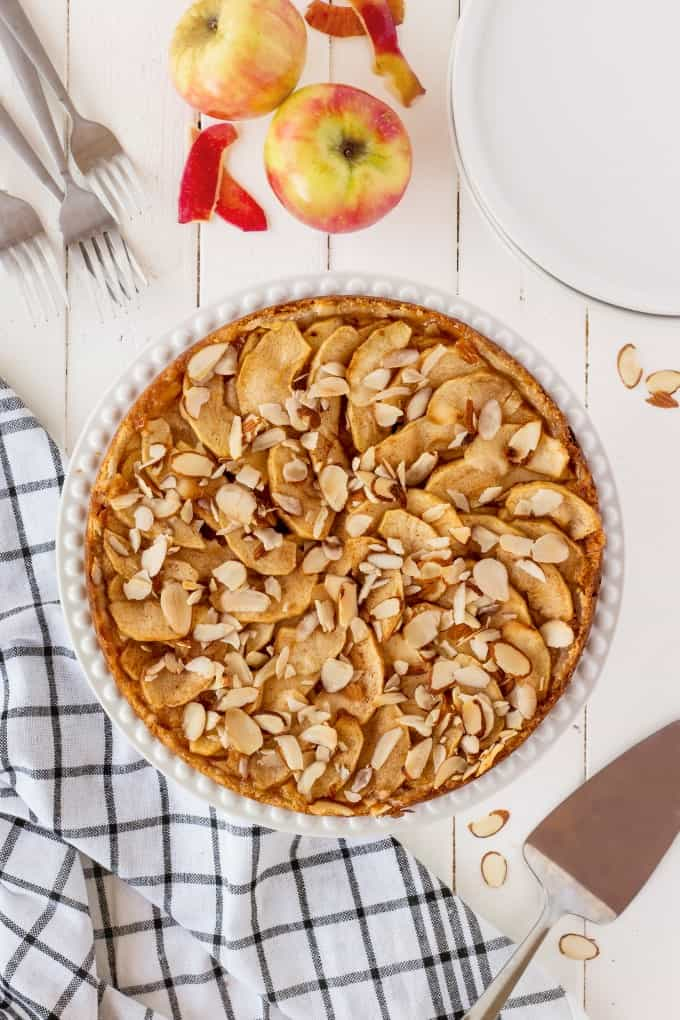 Overhead shot of an Apple Torte