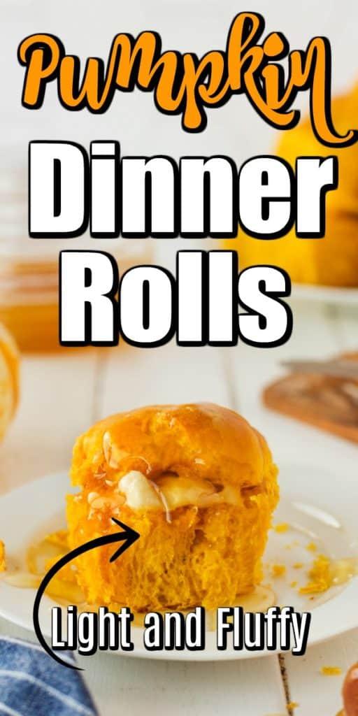 Perfectly Fluffy Pumpkin Dinner Rolls Pin