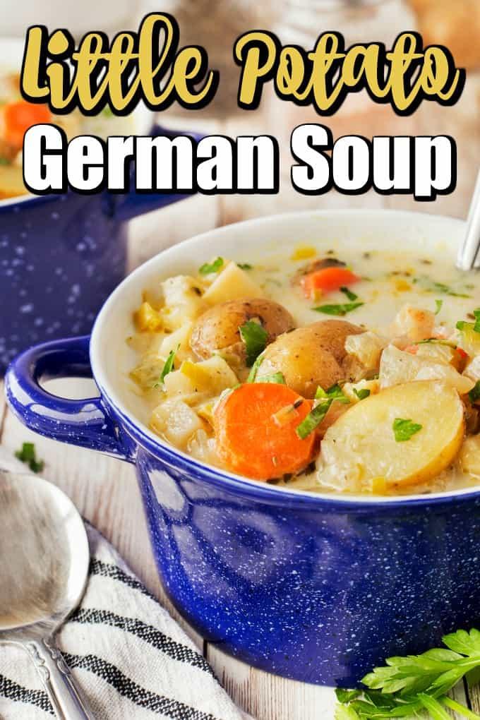 German Potato Soup (Kartoffelsuppe) Pin
