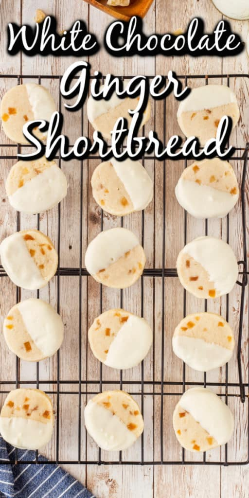 White Chocolate Ginger Shortbread Pin