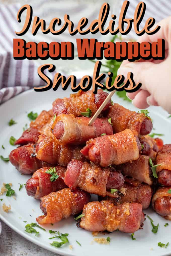 Brown Sugar Bacon Wrapped Smokies Pin