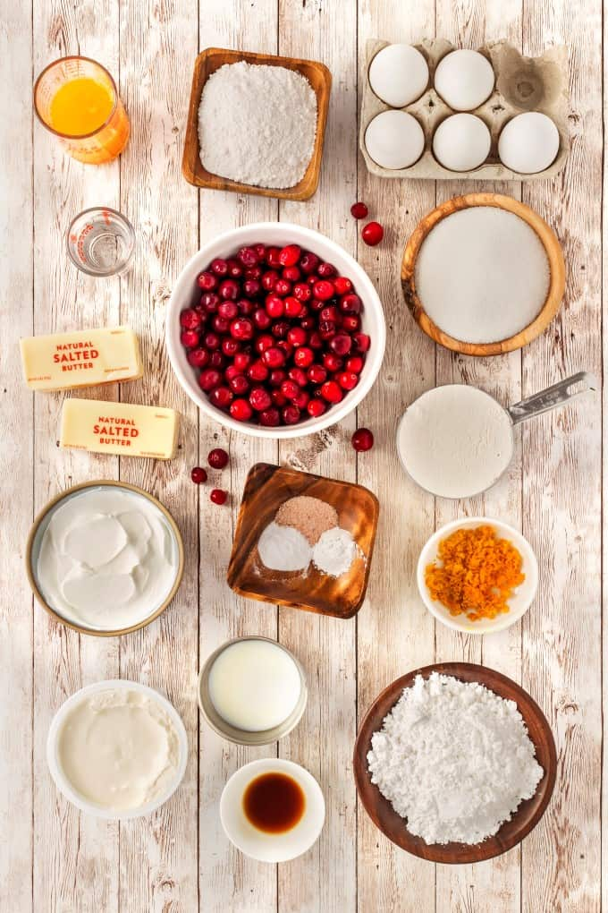 Ingredients for Cranberry Orange Bundt Cake