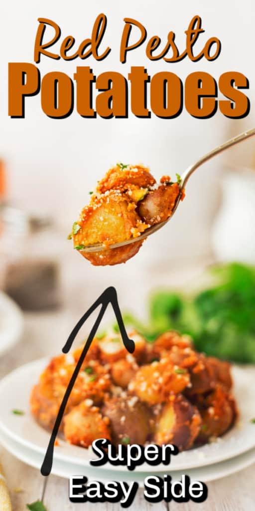 Red Pesto Potatoes Pin