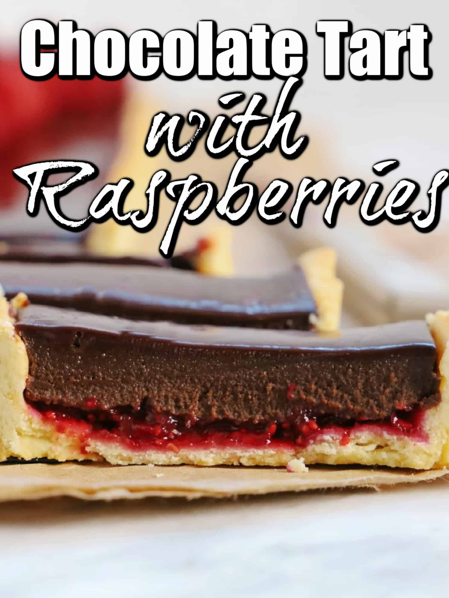 Delicious Chocolate Tart with Raspberries Pin