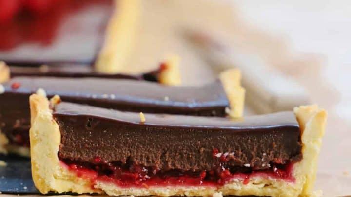 Chocolate Tart with Raspberry Jam