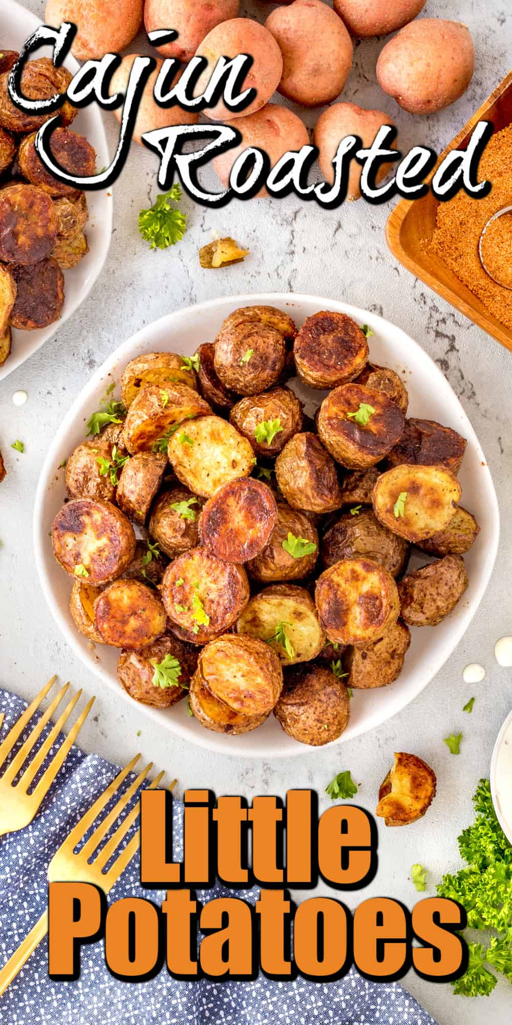 Cajun Roasted Potatoes pin