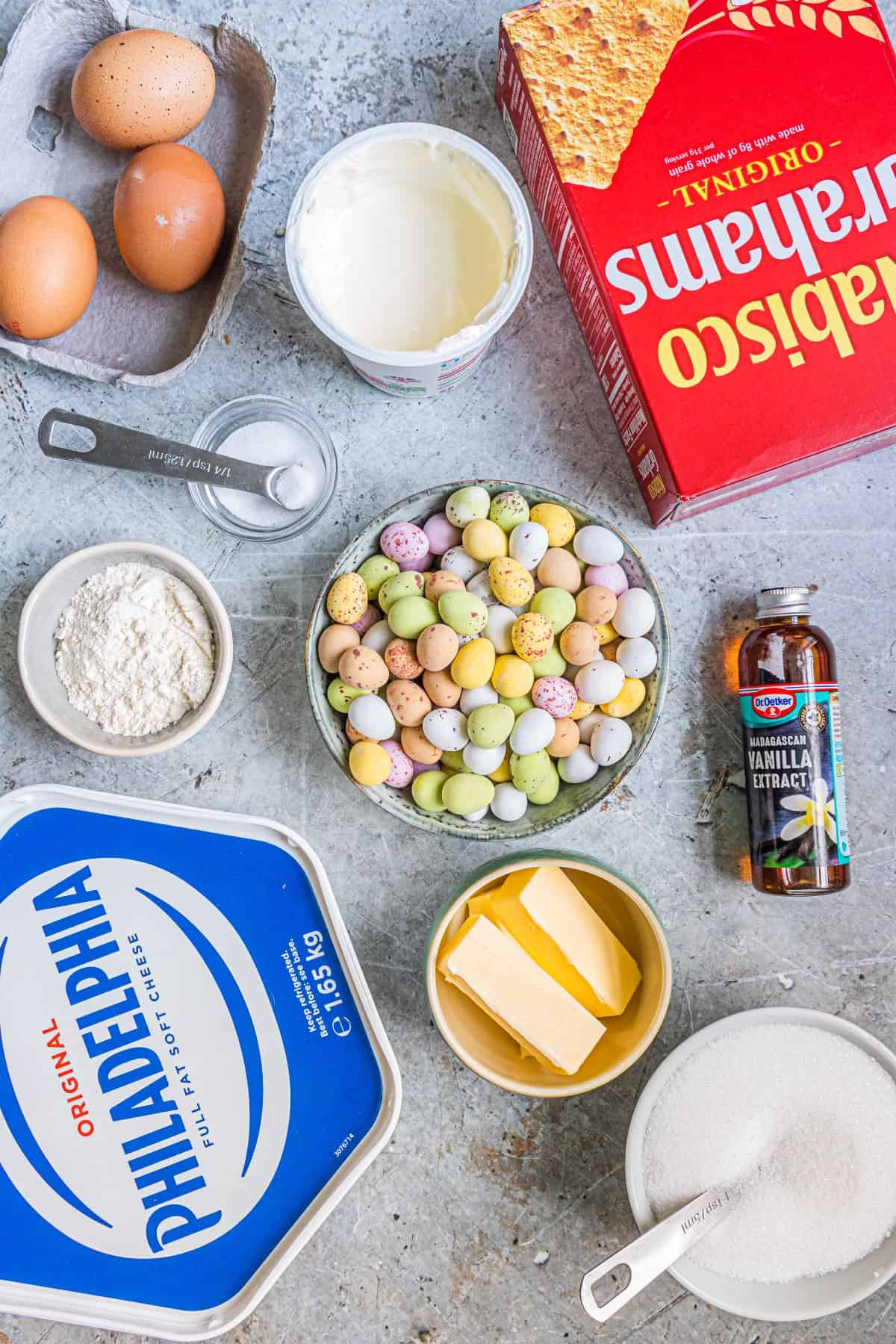 Ingredients for Easter Egg Instant Pot Cheesecake