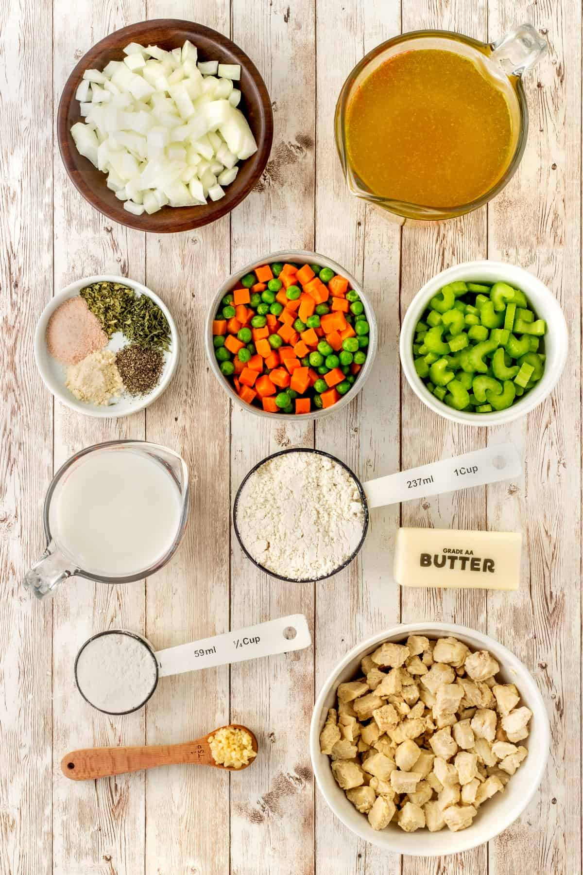 Ingredients for Chicken and Dumplings
