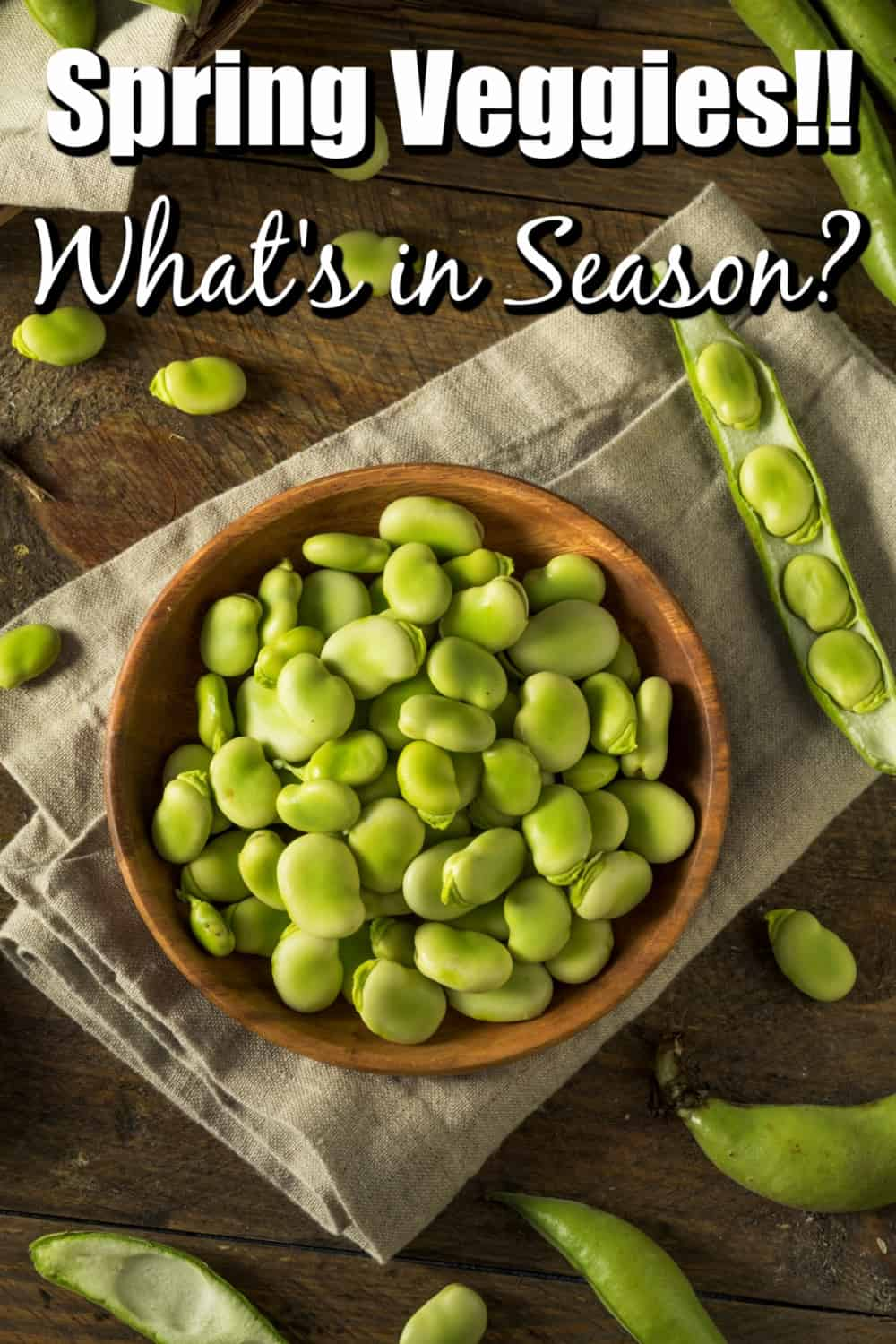 Spring Vegetables, What's In Season? Pin