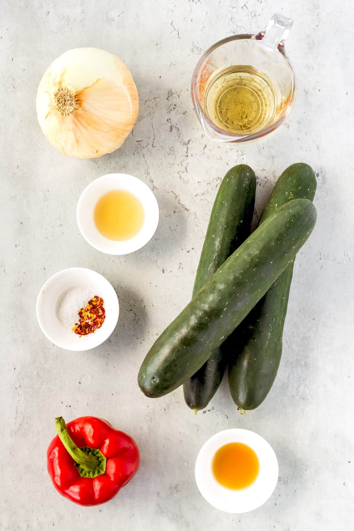 Ingredients for Asian Cucumber Salad
