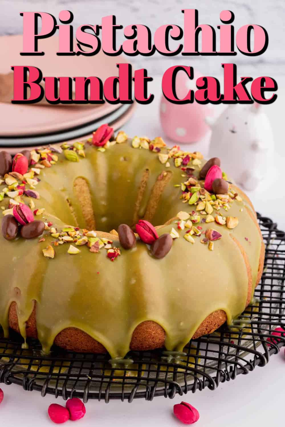 Glazed Pistachio Bundt Cake Pin