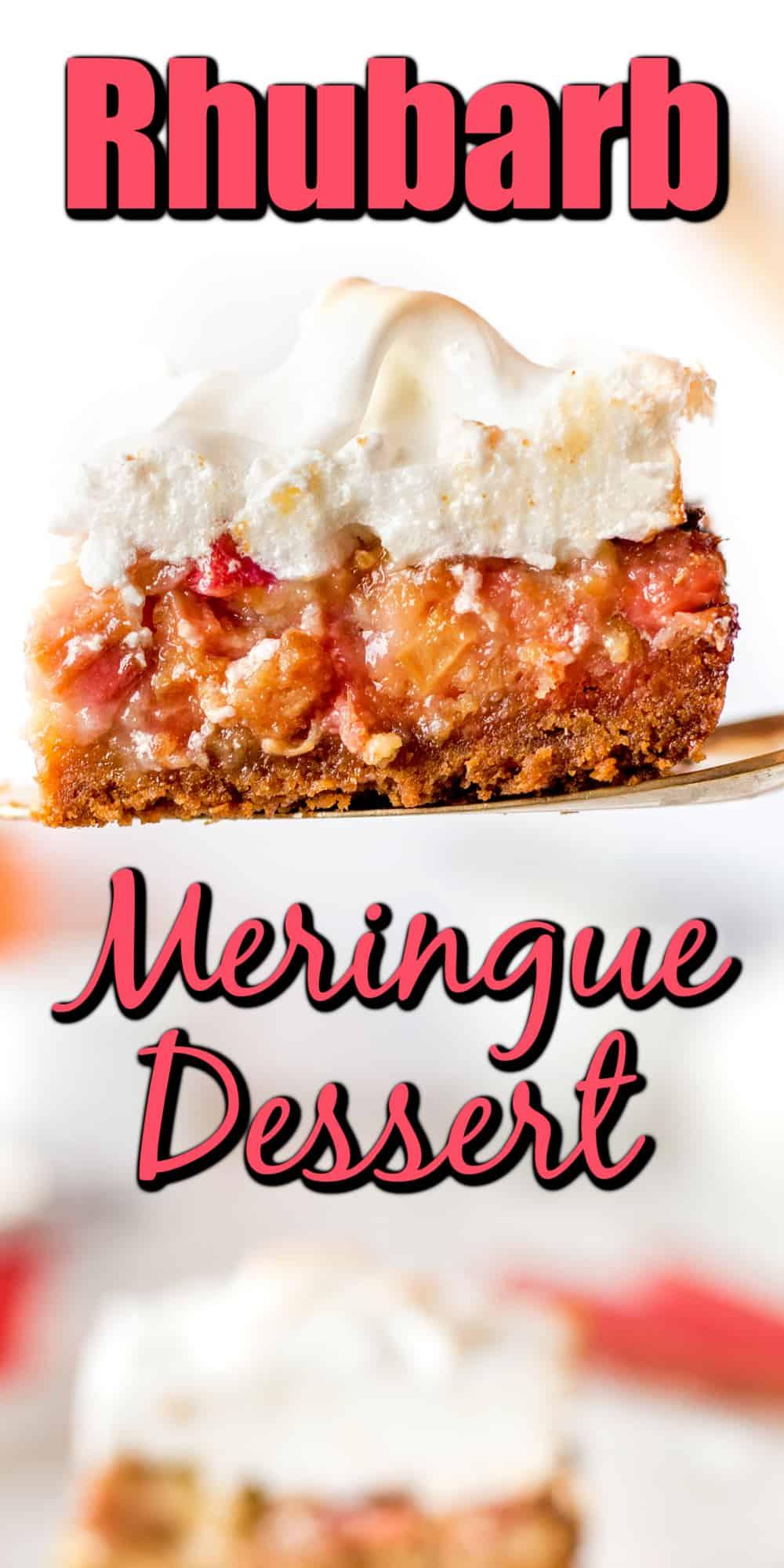 Rhubarb Meringue Dessert Pin