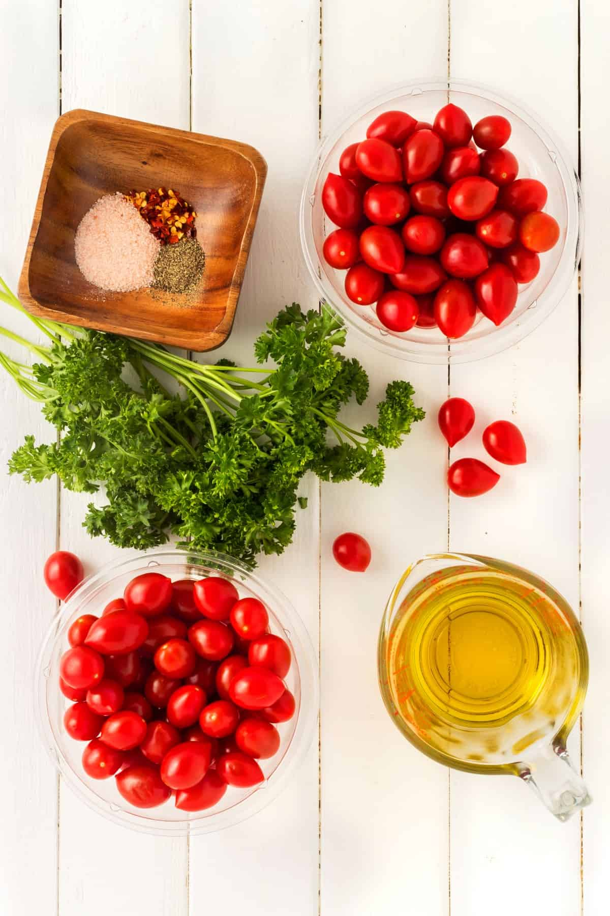 Ingredients for Roasted Grape Tomatoes
