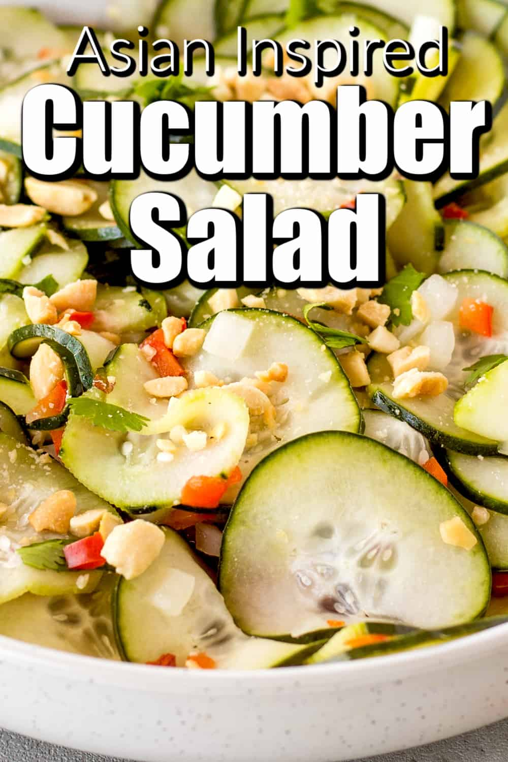 Easy Asian Inspired Cucumber Salad Pin
