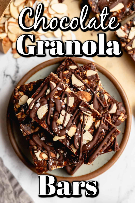 Chocolate Cherry Granola Bars Pin