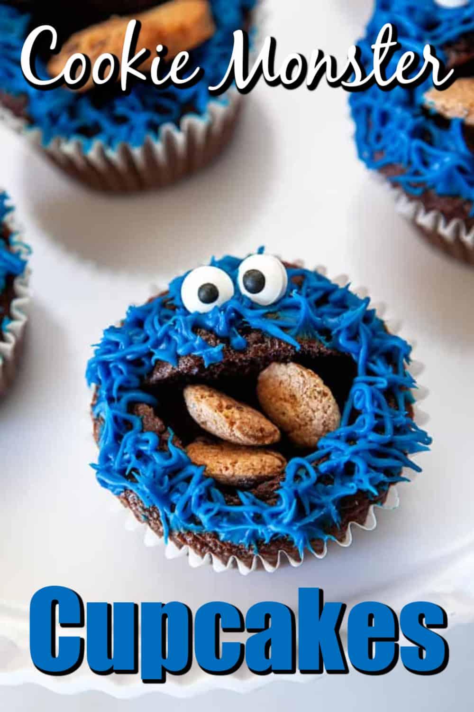 Fun Cookie Monster Cupcakes Pin