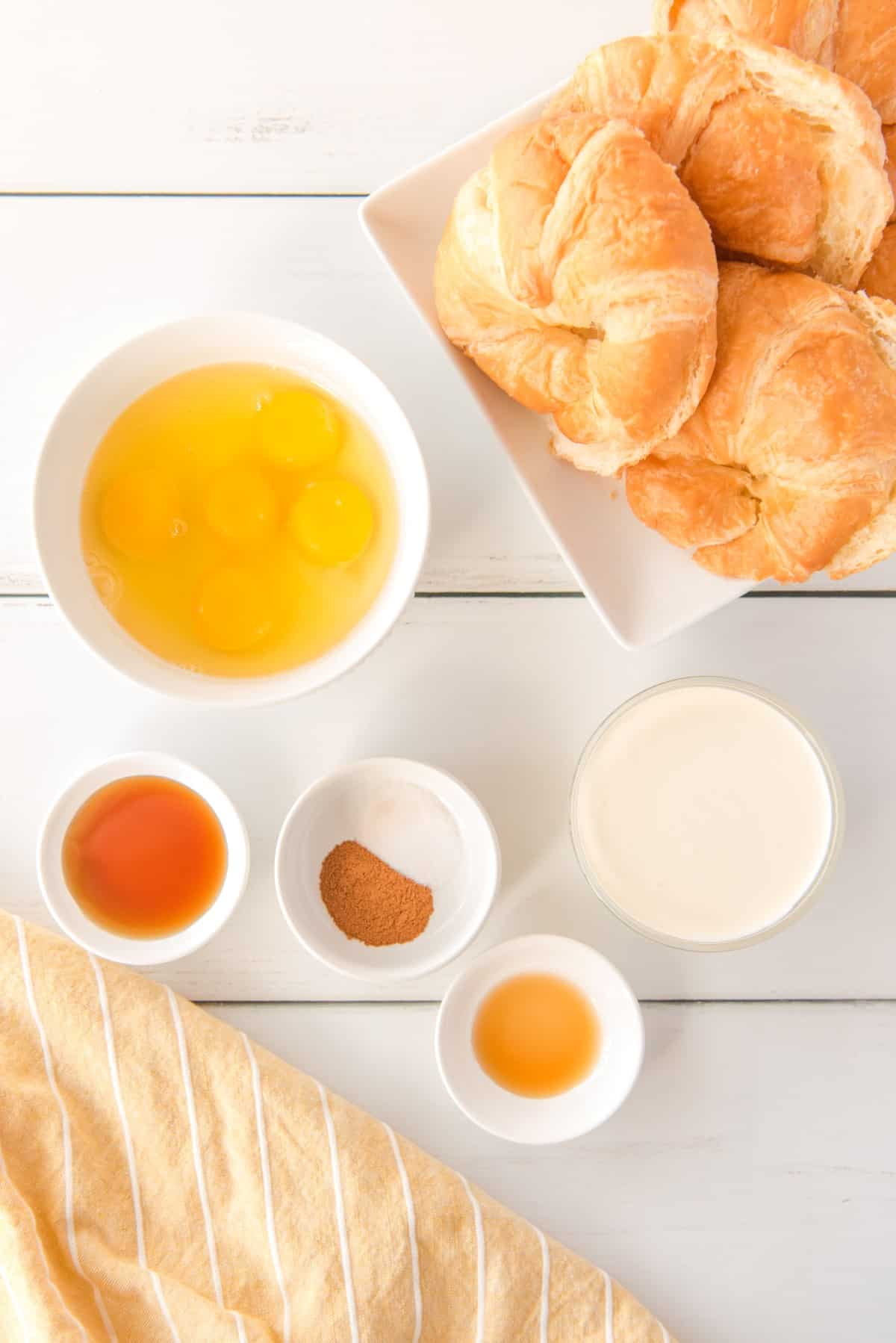 Ingredients for Croissant French Toast Bake