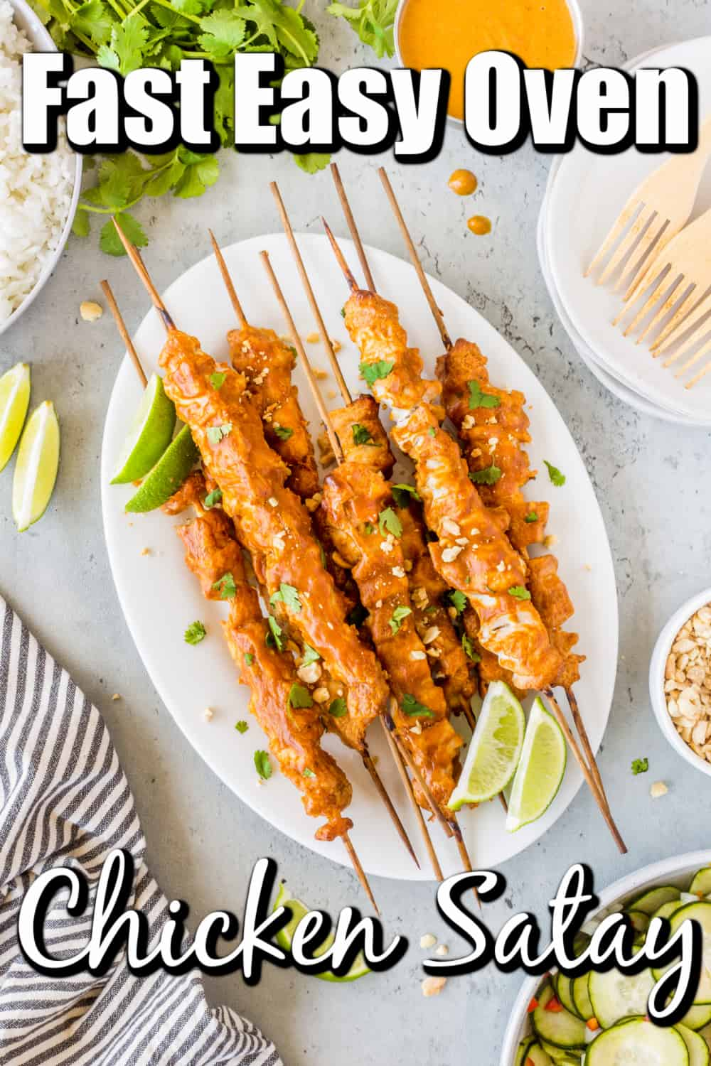 Fast Easy Oven Chicken Satay Pin