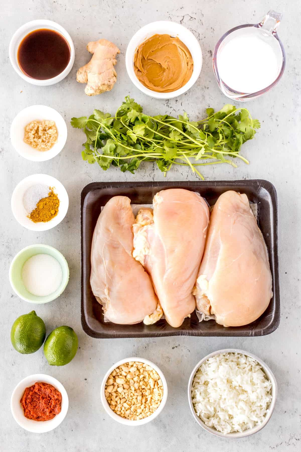 Ingreditents for Fast Easy Oven Chicken Satay