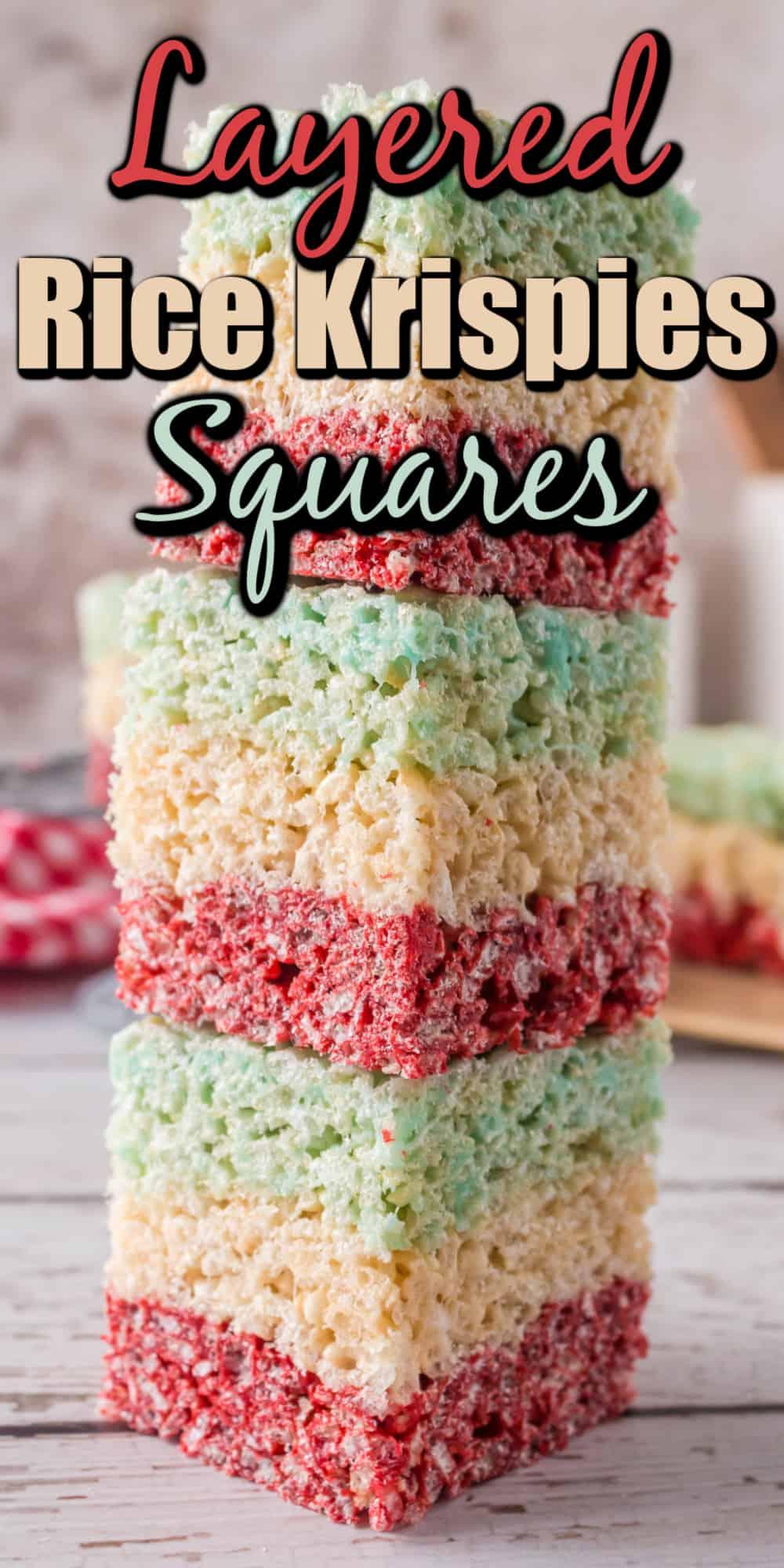 Layered Rice Krispies Squares Pin