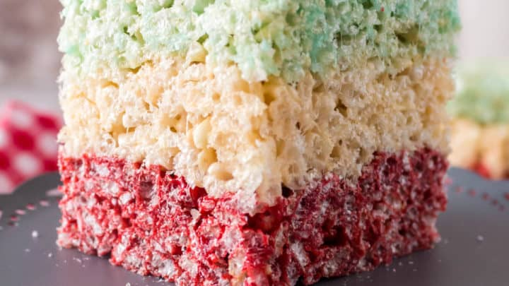 Layered Rice Krispies Squares