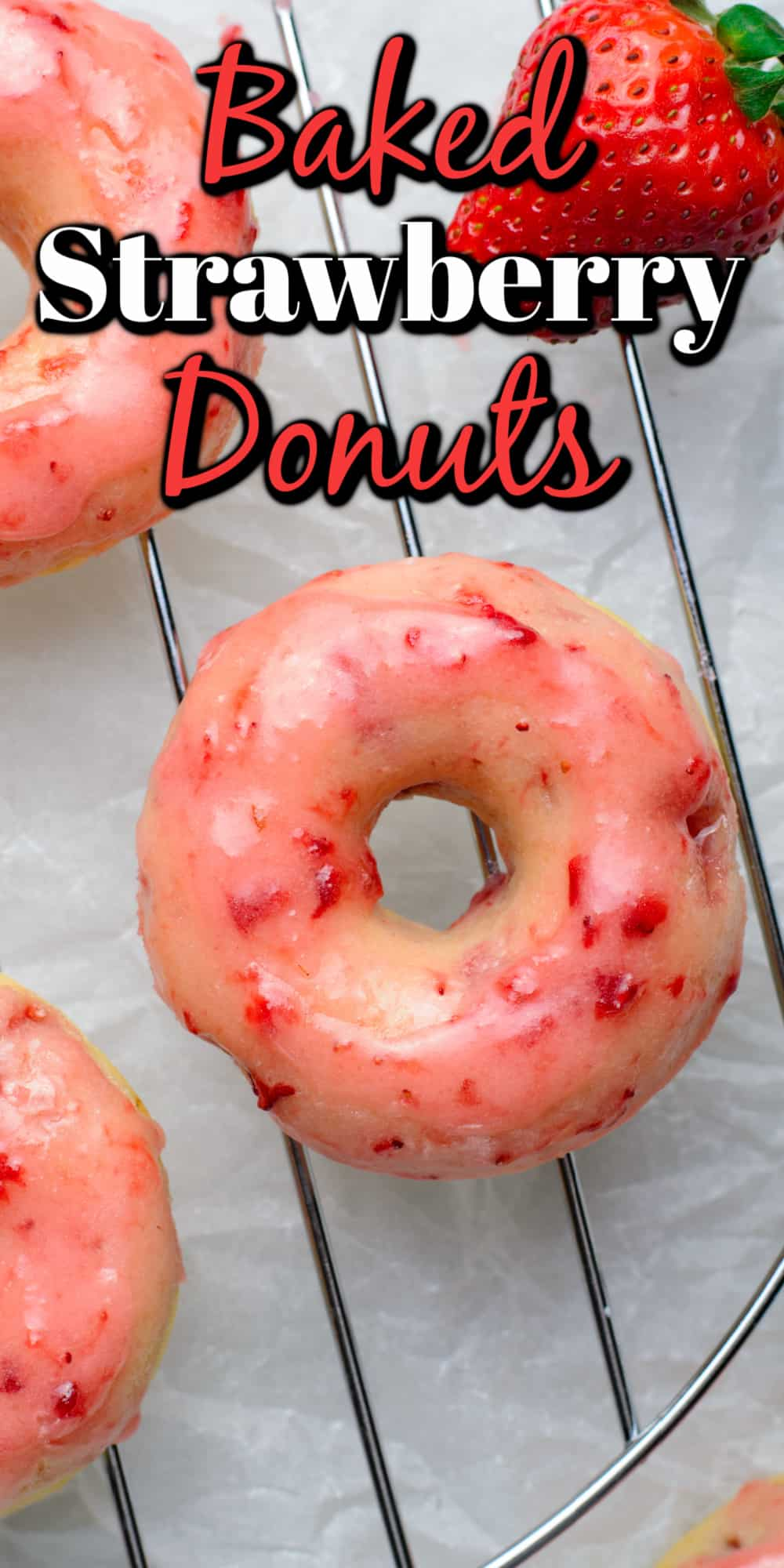 Baked Strawberry Donuts Pin