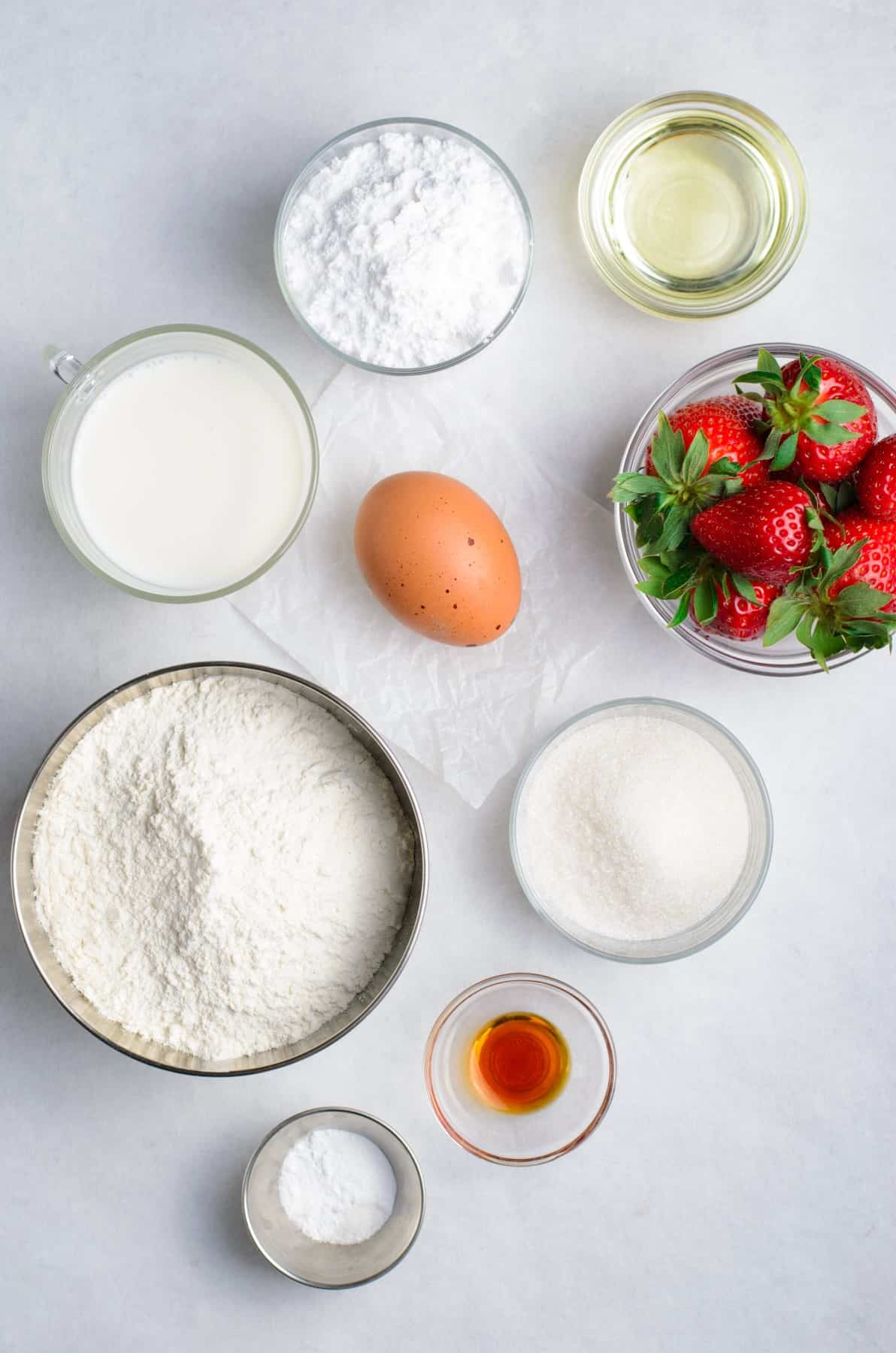 Ingredients for Baked Strawberry Donuts
