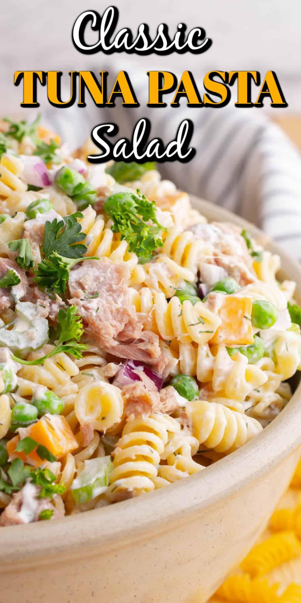 Classic Creamy Tuna Pasta Salad Pin