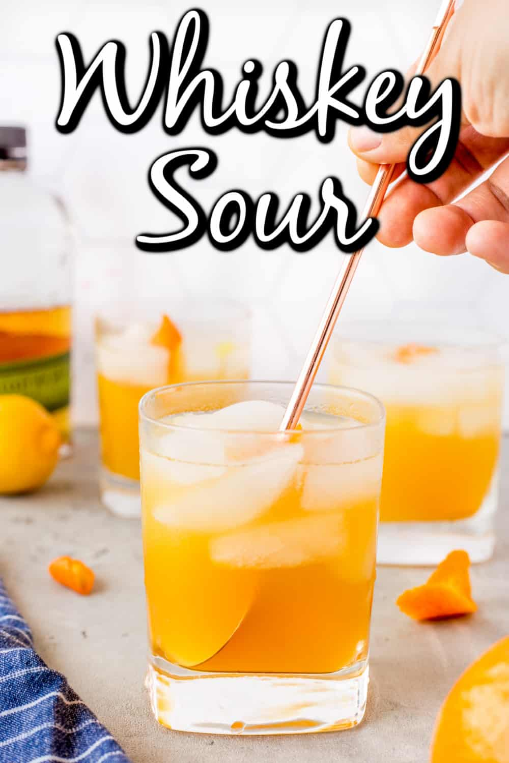 Whiskey Sour Cocktail Pin