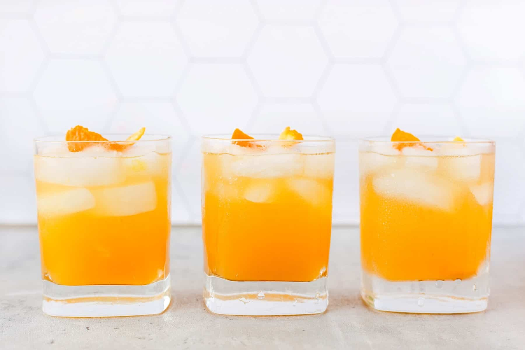 Three Whiskey Sours in a row