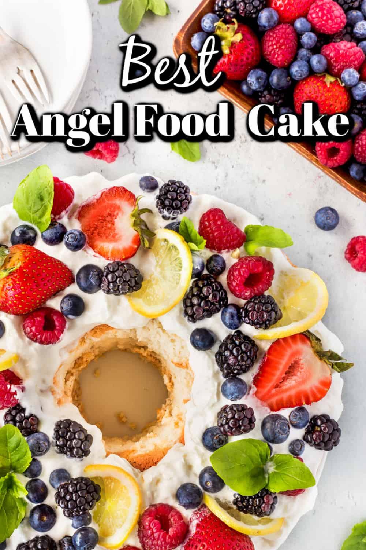 Best Angel Food Cake Recipe Pin