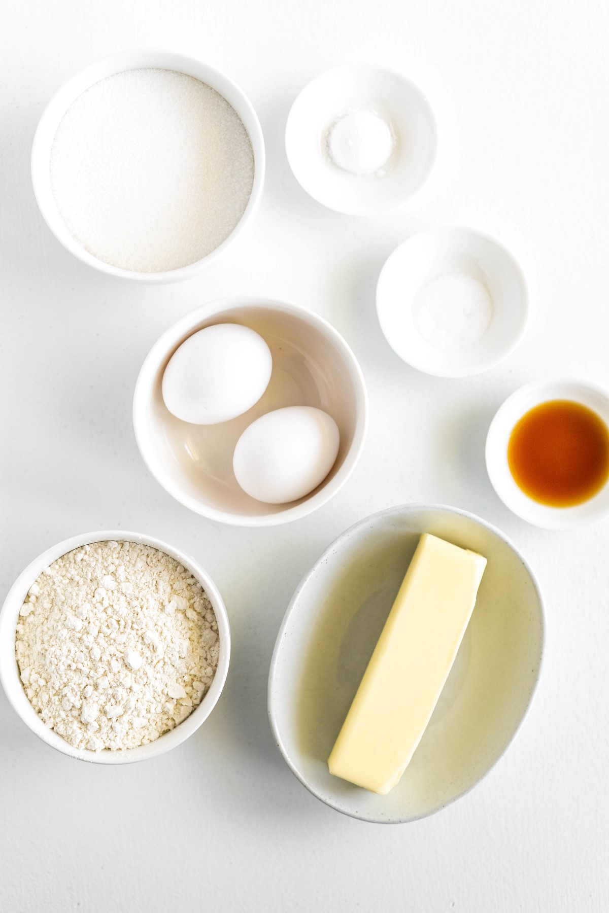 Ingredients for Pound Cake Cupcakes