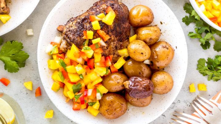 Instant Pot Jerk Chicken and Little Potatoes
