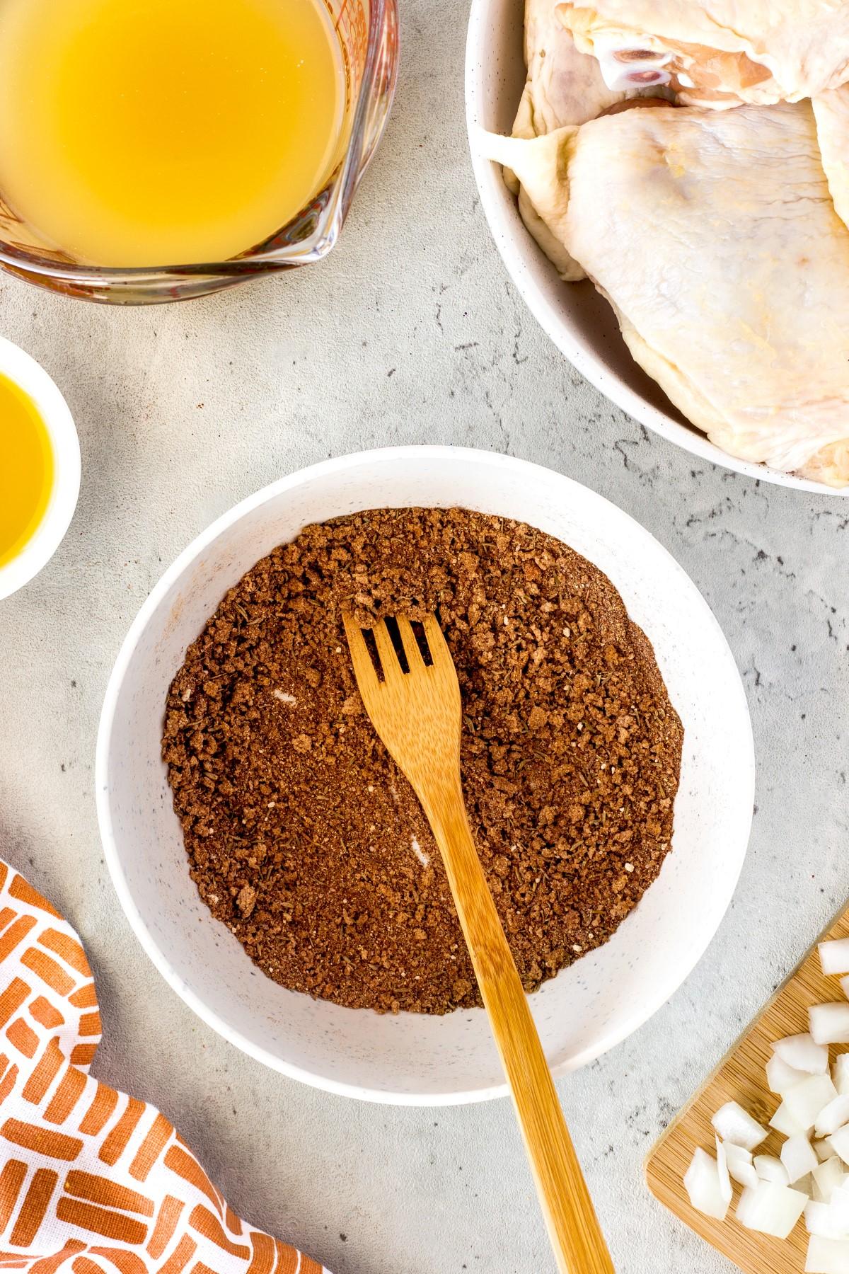 Jerk Chicken spices in a bowl