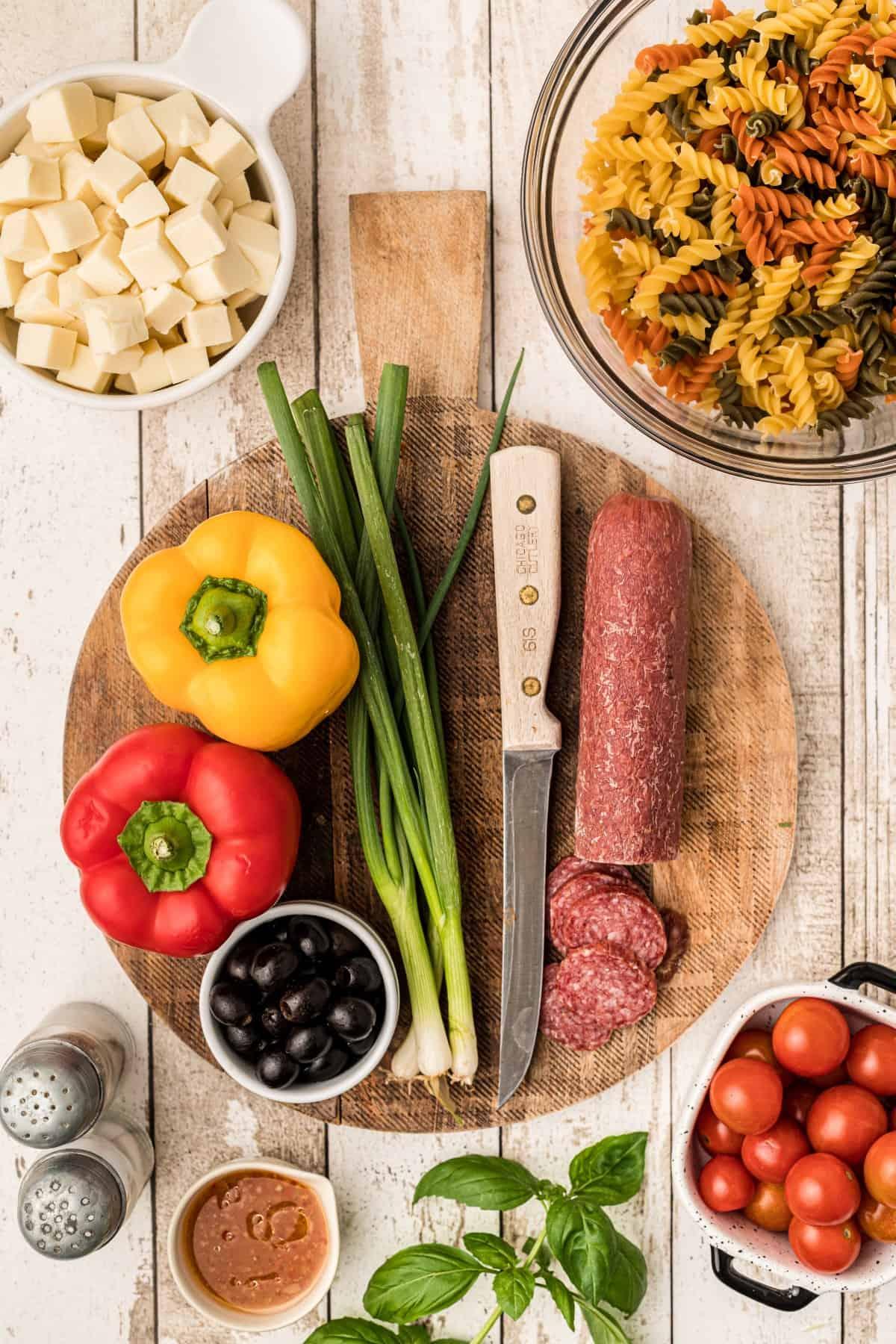 Ingredients for the Best Italian Pasta Salad
