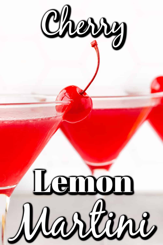 Lemon Cherry Martini Pin