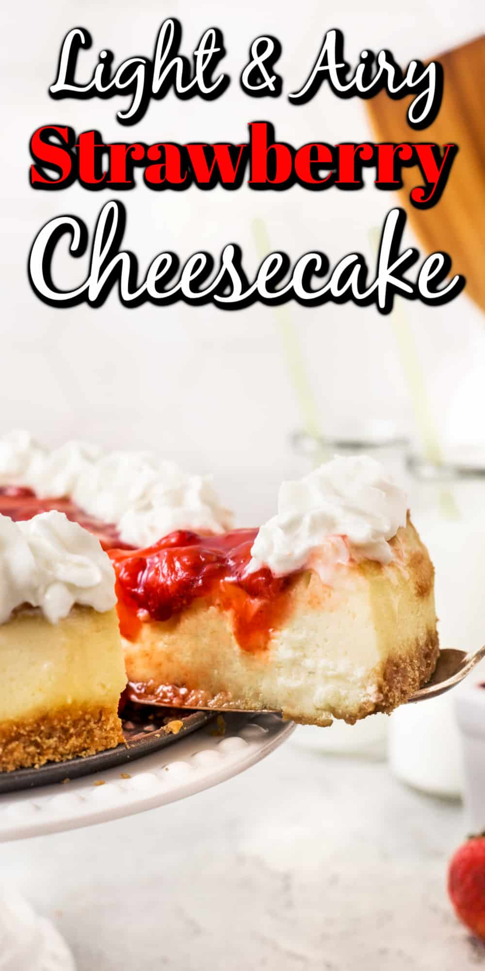 Light and Airy Strawberry Cheesecake Pin