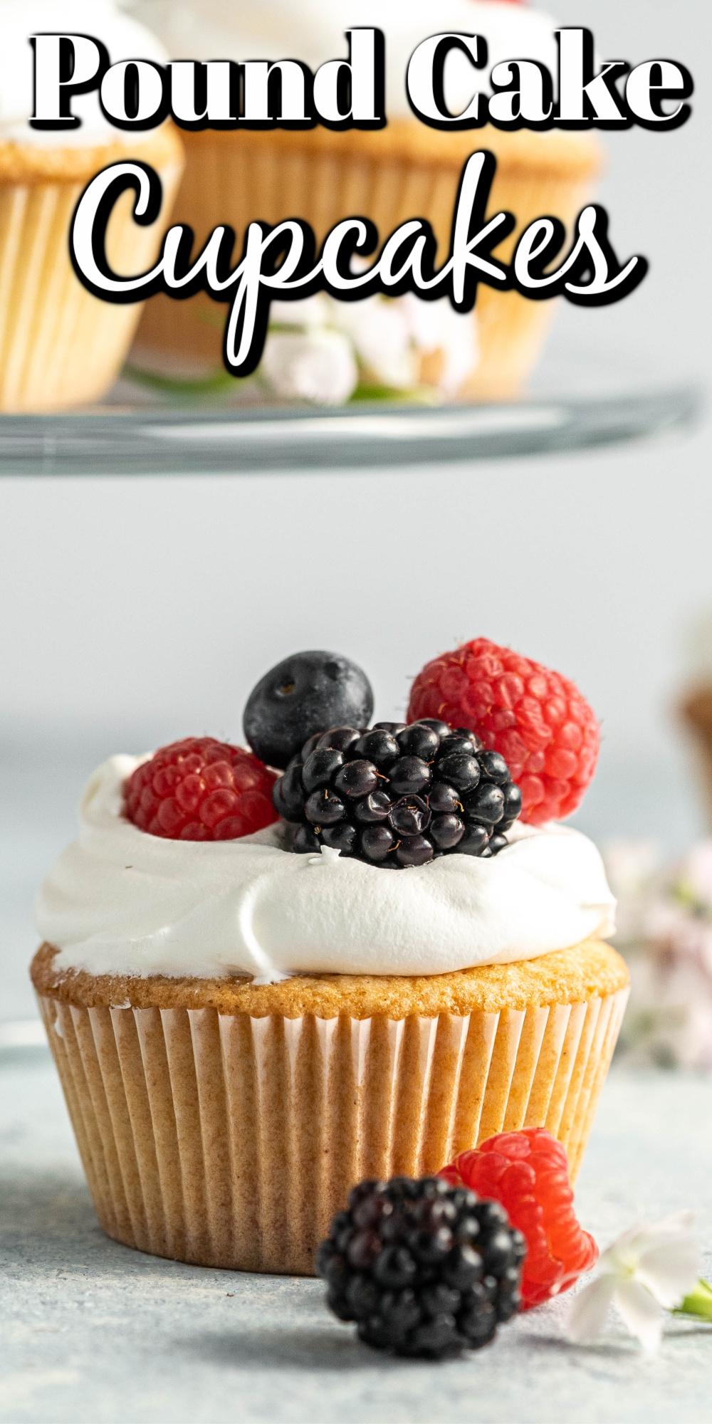 Homemade Pound Cake Cupcakes Pin