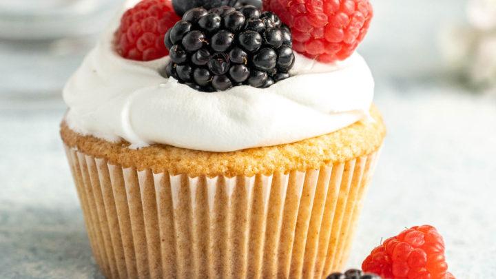 Homemade Pound Cake Cupcakes