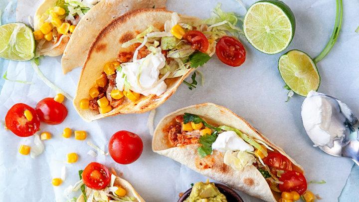 Easy Fast Rotisserie Chicken Tacos