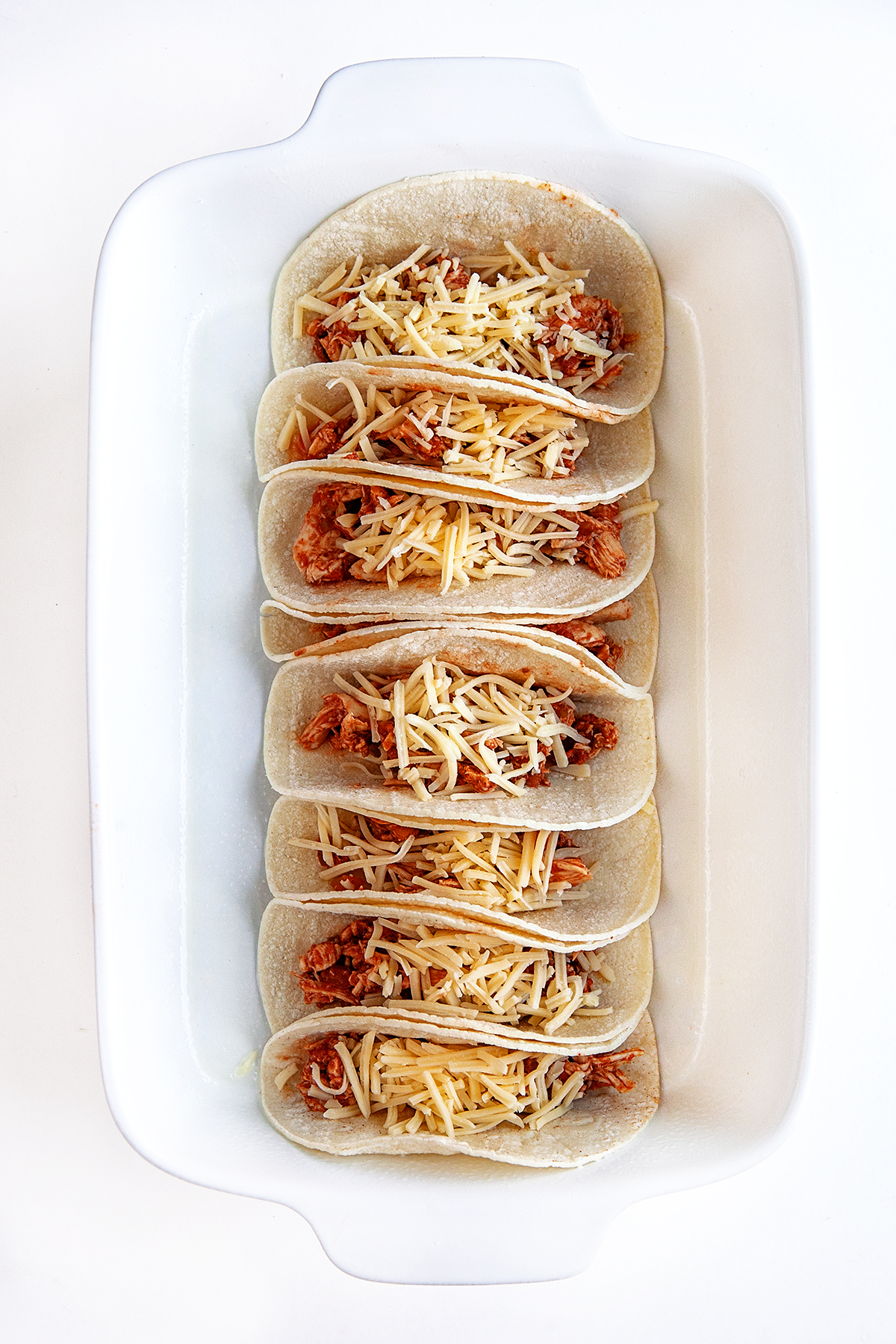 Tacos ready to go in the oven