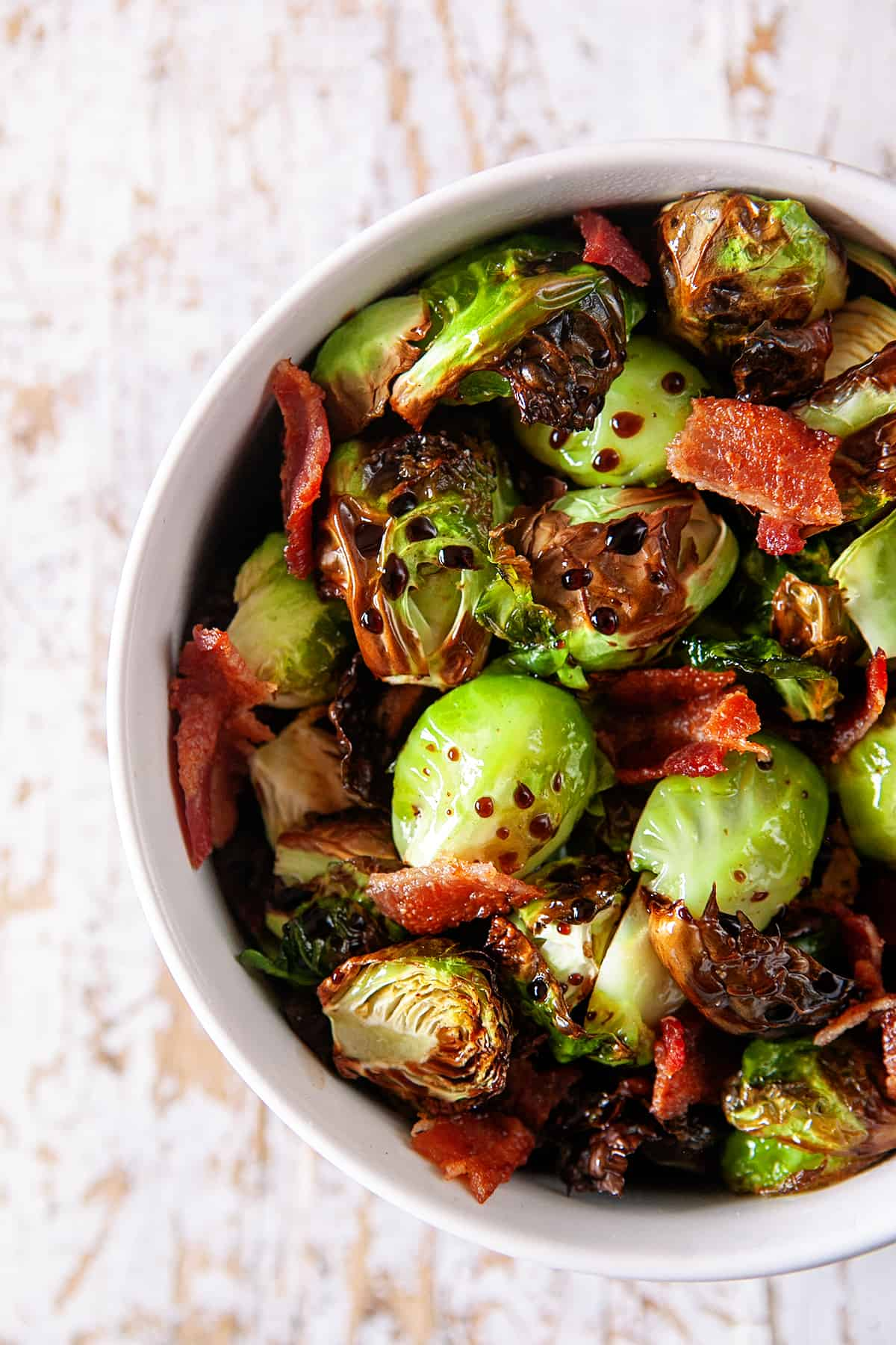 Air Fryer Brussels Sprouts with Bacon